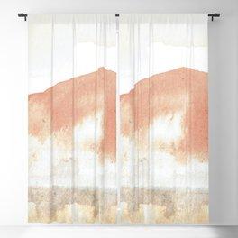 Terra Cotta Hills Abstract Landsape Blackout Curtain
