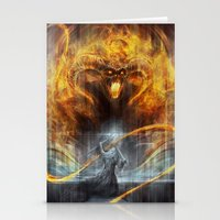 lotr Stationery Cards featuring 'You shall not pass' by jasric