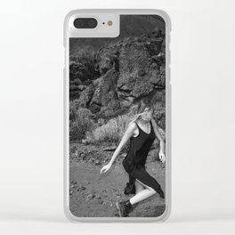 Run run Run run Run run Run away From your Responsibilities Clear iPhone Case
