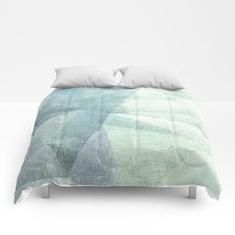Frozen Geometry - Teal & Turquoise Comforters