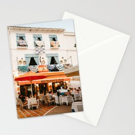 Orange terrace in old town Marbella, Spain | Travel and vacation photography | printable photo art Spain Stationery Cards