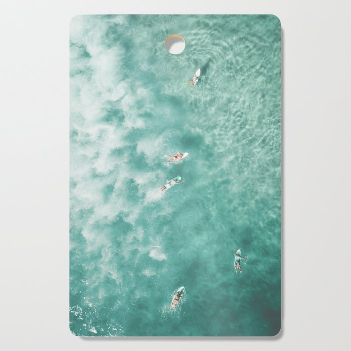 Surfing in the Ocean Cutting Board
