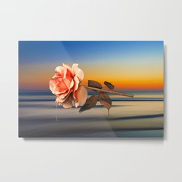 Calm, Rose, Flower, Home Decor, Scenic Wall Art, Printable Artwork, Digital Print, Christmas, Sunset Metal Print