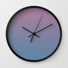 YOUTHFUL WATERS - Minimal Plain Soft Mood Color Blend Prints Wall Clock