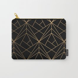 Elegant geometric copper black Carry-All Pouch