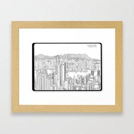 Victoria Peak, Hong Kong (I) Framed Art Print