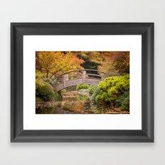 Fall in the Japanese Garden Framed Art Print