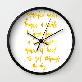 Cheerful Heart Wall Clock