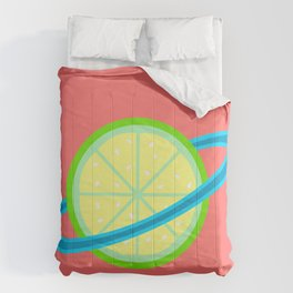 Planet Lime | Lime | Citrus | Fruit | Solar System | Planets | pulps of wood Comforters