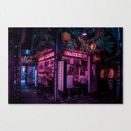 Ramen Corner in Tokyo Canvas Print