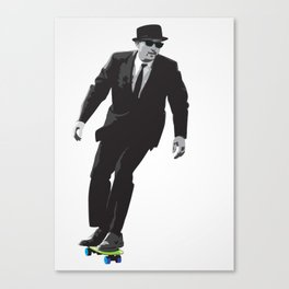 Work can wait when it's time to skate. Canvas Print