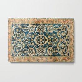 Sarouk  Antique West Persian Rug Print Metal Print