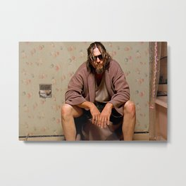 The Dude - Big Lebowski Movie - Funny Bathroom Art, Bathroom Print Metal Print