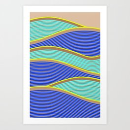 Happy Times - Neon Waves Art Print
