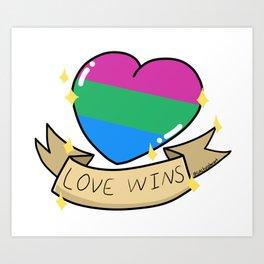 Love Wins Polysexual Pride Heart Art Print