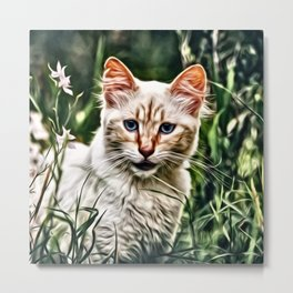 Impressive Animal - Cat 3 Metal Print