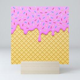 Strawberry Ice Cream Mini Art Print