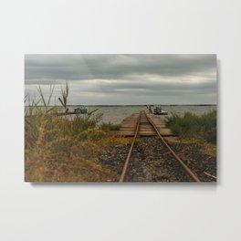 Beziers Bridge to the Mediterranean Sea Metal Print