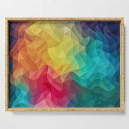 Abstract Color Wave Flash Serving Tray