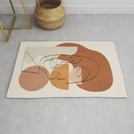 Abstract Clay Faces II Rug