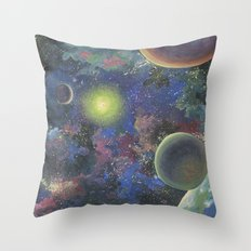 Galaxy. Order in chaos. Throw Pillow