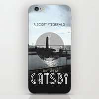 the great gatsby iPhone & iPod Skins featuring The Great Gatsby by Tanner Wheat