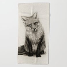 Fox Say What?! Beach Towel