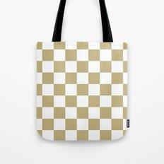Checker (Sand/White) Tote Bag