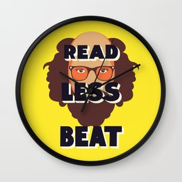 Read Less Beat - Allen Ginsberg Wall Clock
