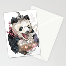 Panda Eating Ramen In A Tin Foil hat Stationery Cards