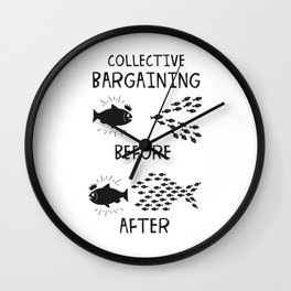 Collective Bargaining Pro Labor Union Worker Protest Light Wall Clock