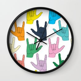I Love You (Joy Palette) Wall Clock