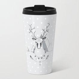Geo Deer Gray Travel Mug