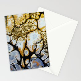 Black and White and Gold Allover Stationery Cards