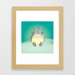 Sitting To-to-ro Framed Art Print