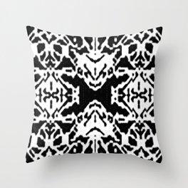 X001_black Throw Pillow