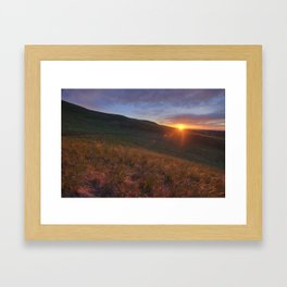 Chasing the Sunrise Framed Art Print