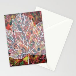 Leaf Tracery  Stationery Cards