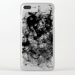 Black Swirly Clear iPhone Case