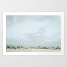Sleepy Beach Town ~ Pastels Art Print