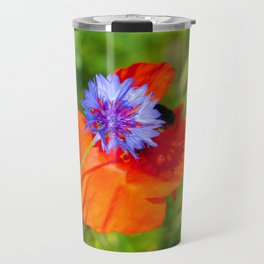 Cornflower kisses poppy Travel Mug