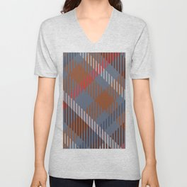 Plaid Colorful Lumberjack Flannel Unisex V-Neck