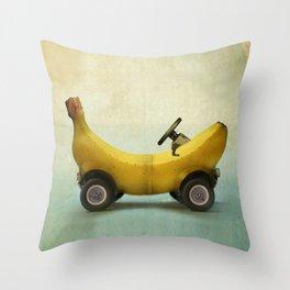 Banana Buggy Throw Pillow
