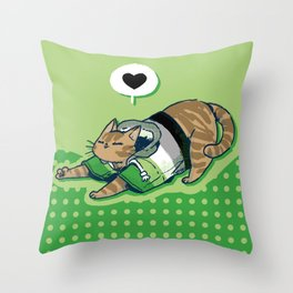 Pride Cats - Aromantic Pride Throw Pillow