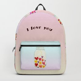 Keep my love in a bottle for you Backpack