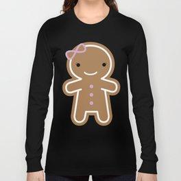 Cookie Cute Gingerbread Girl Long Sleeve T-shirt