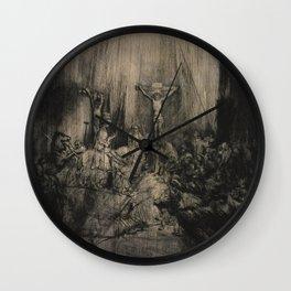 Rembrandt - The Three Crosses (1655) Wall Clock