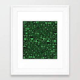 Hello Invaders Framed Art Print