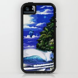 Tardis Art And The Moon Shine iPhone Case