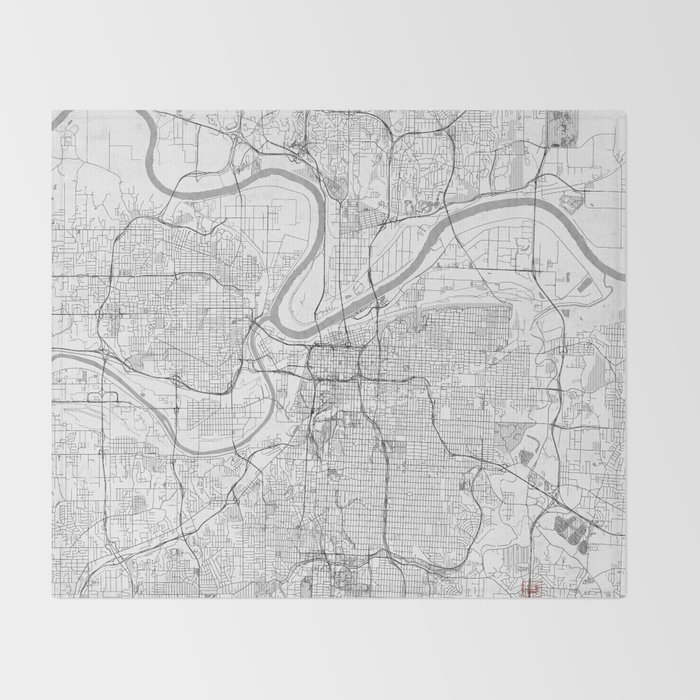 Kansas City Map Line Throw Blanket on north kansas map, united states map, hutchinson kansas map, florida map, southeast kansas map, johnson county map, st. louis map, north carolina map, lawrence kansas map, arkansas map, indianapolis map, cincinnati map, hays kansas map, overland park kansas map, austin map, des moines map, minneapolis map, kansas county map, junction city ks map, chicago map,